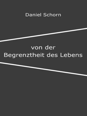 cover image of Von der Begrenztheit des Lebens