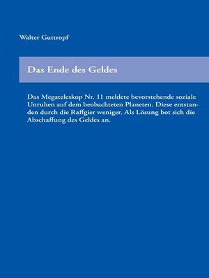 cover image of Das Ende des Geldes