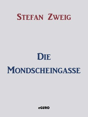 cover image of Die Mondscheingasse