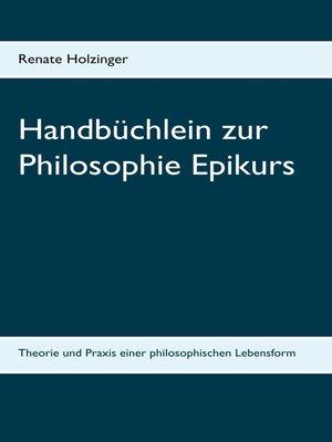 cover image of Handbüchlein zur Philosophie Epikurs