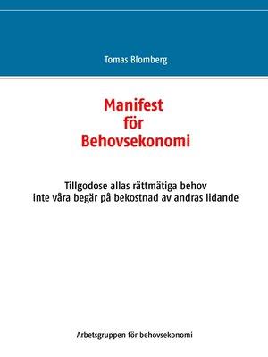 cover image of Manifest för Behovsekonomi