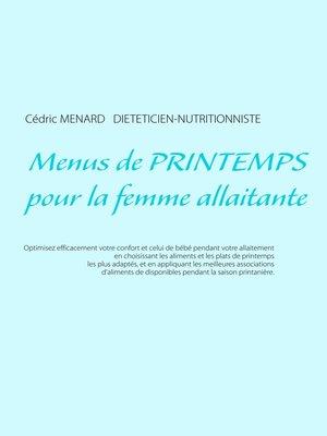 cover image of Menus de printemps pour la femme allaitante