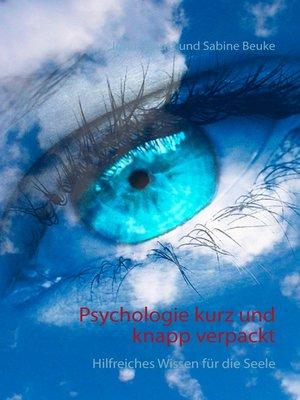 cover image of Psychologie kurz und knapp verpackt