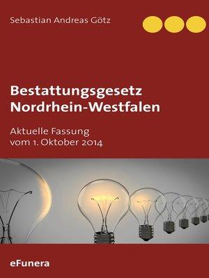 cover image of Bestattungsgesetz Nordrhein-Westfalen