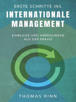 cover image of Erste Schritte ins internationale Management