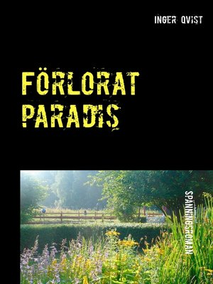 cover image of Förlorat paradis