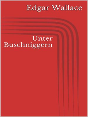 cover image of Unter Buschniggern