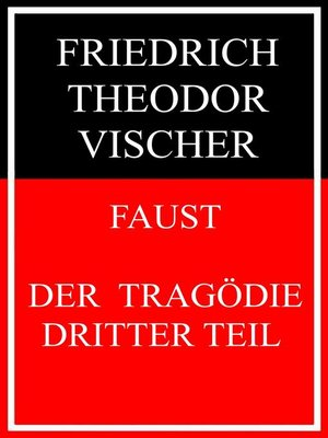 cover image of Faust--der Tragödie dritter Teil