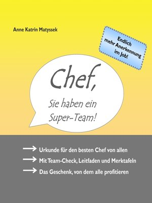 cover image of Chef, Sie haben ein Super-Team!