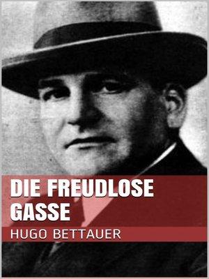 cover image of Die freudlose Gasse