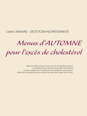 cover image of Menus d'automne pour l'excès de cholestérol