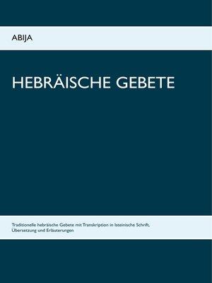 cover image of Hebräische Gebete
