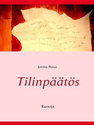 cover image of Tilinpäätös