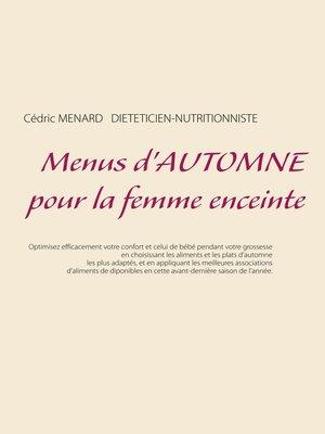 cover image of Menus d'automne pour la femme enceinte