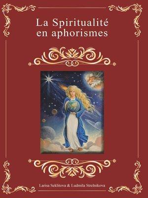 cover image of La spiritualité en aphorismes