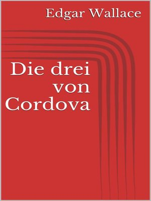 cover image of Die drei von Cordova