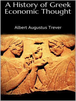 cover image of A History of Greek Economic Thought