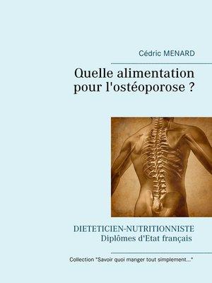 cover image of Quelle alimentation pour l'ostéoporose ?