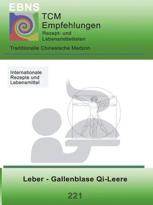cover image of Ernährung--TCM--Leber--Gallenblase Qi-Leere