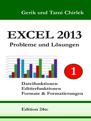 cover image of Excel 2013. Probleme und Lösungen. Band 1