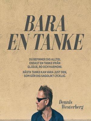 cover image of Bara en tanke