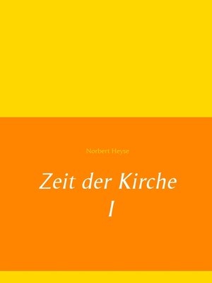 cover image of Zeit der Kirche 1