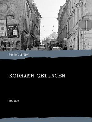cover image of Kodnamn Getingen