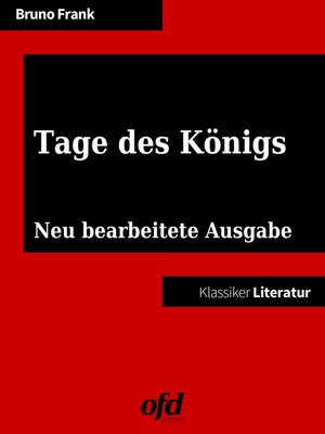 cover image of Tage des Königs
