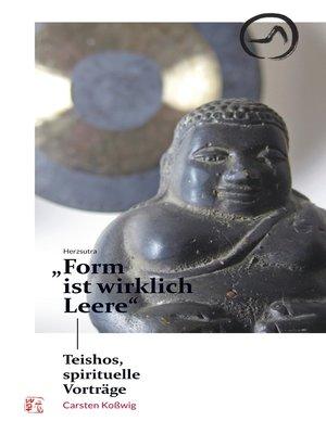 "cover image of Herzsutra--""Form ist wirklich Leere"""
