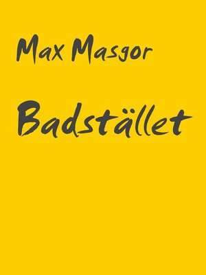 cover image of Badstället