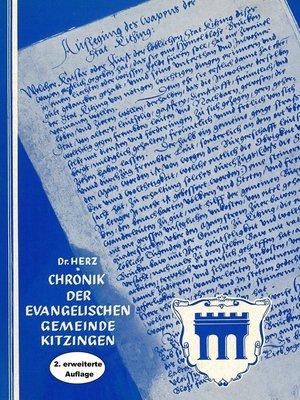 cover image of Chronik der Evangelischen Gemeinde Kitzingen