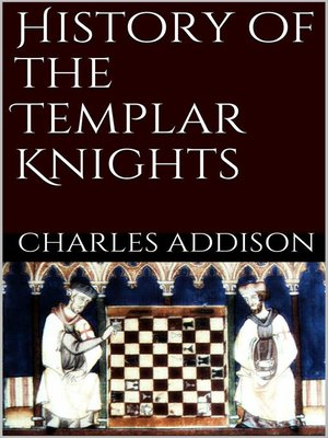 cover image of History of the Templars Knights