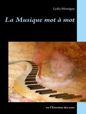 cover image of La musique mot à mot