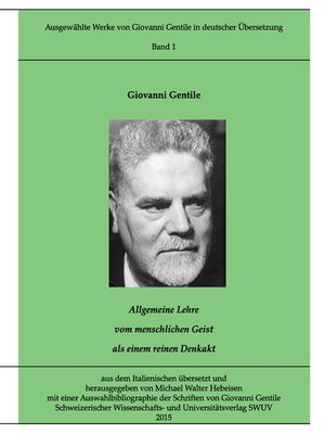 cover image of Gentile-Edition, Band 1