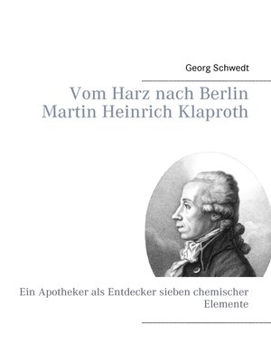 cover image of Vom Harz nach Berlin Martin Heinrich Klaproth