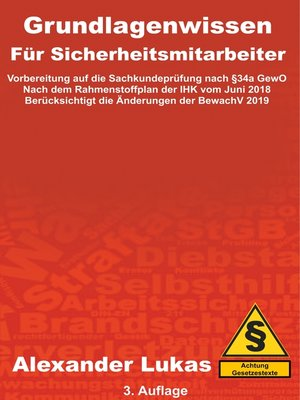 cover image of Grundlagenwissen für Sicherheitsmitarbeiter