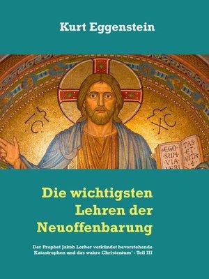 cover image of Die wichtigsten Lehren der Neuoffenbarung