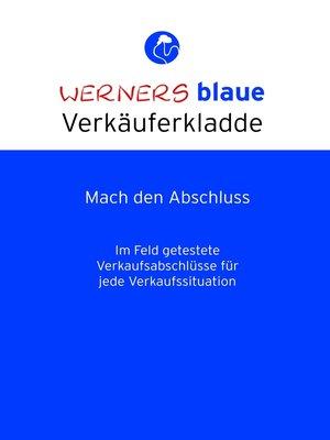 cover image of Werners blaue Verkäuferkladde--Mach den Abschluss