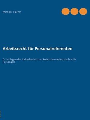 cover image of Arbeitsrecht für Personalreferenten