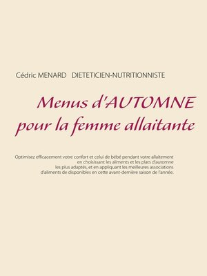 cover image of Menus d'automne pour la femme allaitante