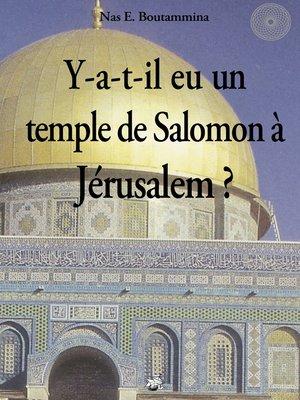 cover image of Y-a-t-il eu un temple de Salomon à Jérusalem ?