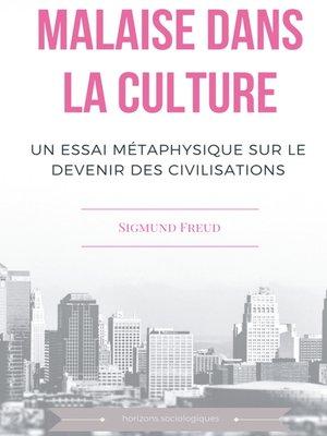 cover image of Malaise dans la culture