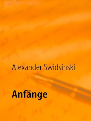 cover image of Anfänge