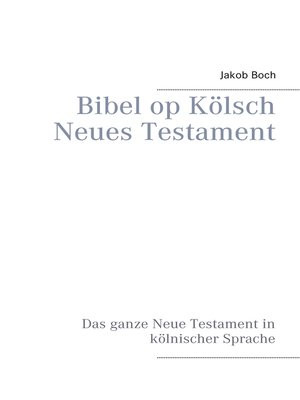 cover image of Bibel op Kölsch Neues Testament