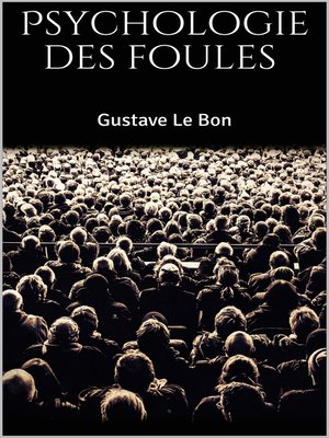 cover image of Psychologie des foules