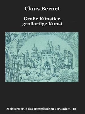 cover image of Große Künstler, großartige Kunst