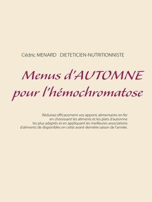 cover image of Menus d'automne pour l'hémochromatose