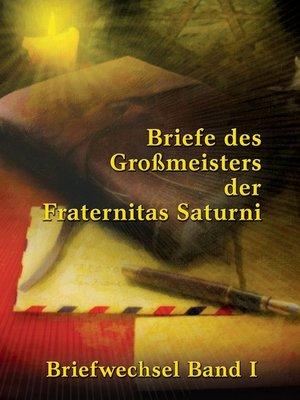 cover image of Briefe des Großmeisters der Fraternitas Saturni