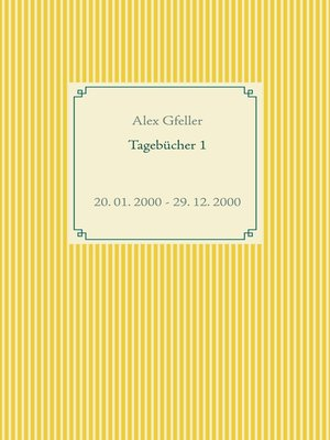 cover image of Tagebücher 1