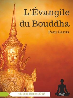 cover image of L'Évangile du Bouddha